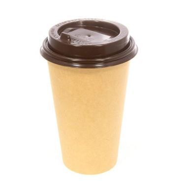 Крышка для гор. напитков с откидным питейником 90 мм, коричневая глянцевая