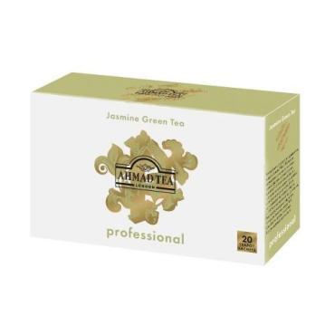 Чай зеленый пакетированный Ahmad Tea Professional с жасмином 20 пак.
