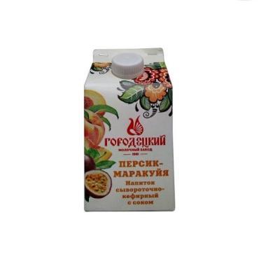 Напиток сывороточно-кефирный с соком Городецкий МЗ Персик-Маракуйя 0,5%
