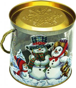Подарочная новогодняя упаковка для сладких подарков Альянс Принт Семейка пластиковая туба