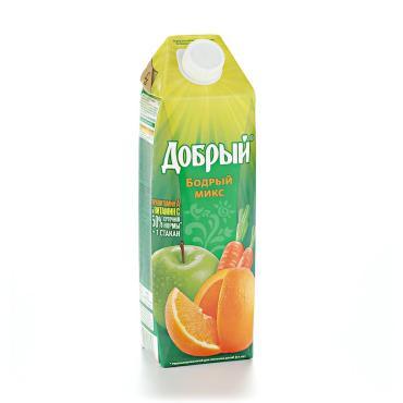 Нектар Добрый Бордрый микс Апельсин-яблоко-персик-маракуйя