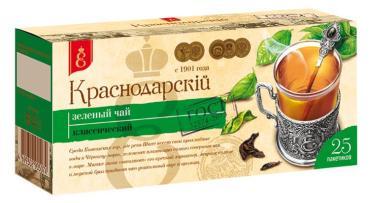 Чай зеленый Краснодарскiй чай ВЕКА с 1901 года 25 пак.