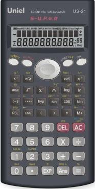 Калькулятор функций инженерные US-21 240 Uniel, 180 гр., картонная коробка