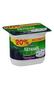 Йогурт Danone Активиа с черносливом 2,9% 150г