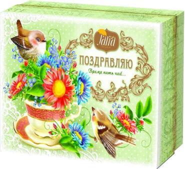 Чай листовой черный цейлонский Jarra Время пить чай, 125 гр., шкатулка