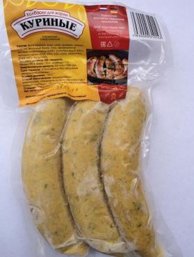 Колбаски для жарки куриные, 300 гр., вакуумная упаковка
