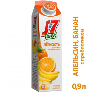 Нектар J7 Тонус Апельсин-Банан с мякотью 0,9 л.