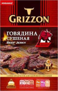 Мясо сушеное Grizzon Говядина острая