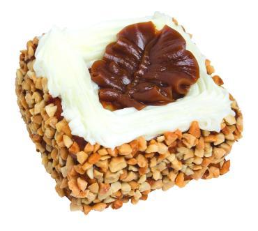 Пирожные Слоянка Красивые с арахисом и зефиром
