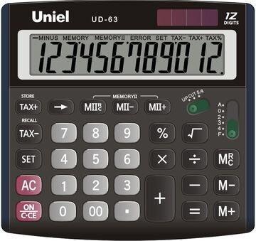 Калькулятор Uniel UD-63, 230 гр., картонная коробка