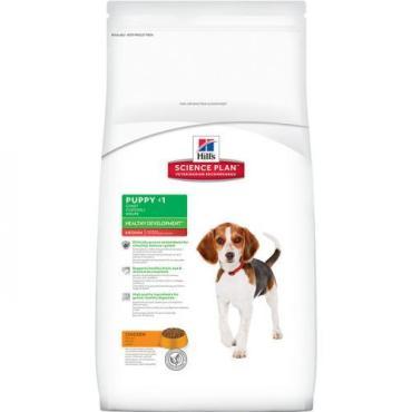 Сухой корм с курицей, для щенков средних пород, Hill's Science Plan Puppy Healthy Development Puppy Medium with Chicken, 12 кг., Дой-пак