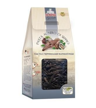 Макаронные изделия с чернилами каракатицы Pasta la Bella Speciale Макароны, 250 гр., флоу-пак