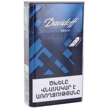 Сигареты Davidoff Reach Blue, картонная пачка