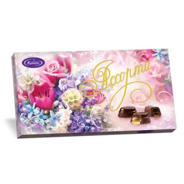 Набор конфет шоколадных Кутюрье Ассорти Нежный букет, 130 гр., картонная коробка