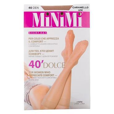Гольфы женские MiNiMi Dolce 40 Den caramello 2 пары