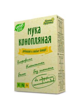 Мука конопляная Компас Здоровья, 200 гр., картонная коробка