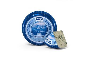 Сыр 55% с голубой плесенью Молодея Рокфорти, 1 кг., вакуумная упаковка
