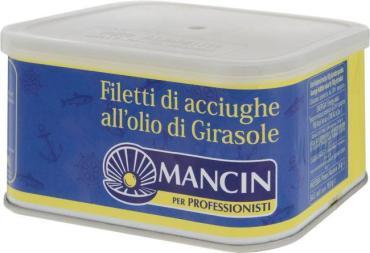 Анчоусы филе в подсолнечном масле Mancin