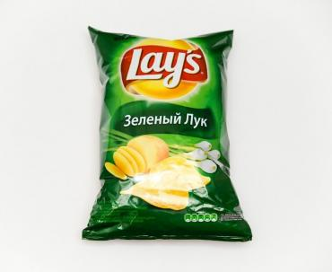 Чипсы молодой зеленый лук , Lay's, 90 гр, флоу-пак
