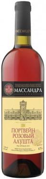 Вино ликерное розовое портвейн розовый Массандра Алушта 17 %, Россия, 750 мл., стекло
