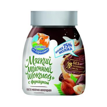 Шоколад молочный с фундуком мягкий, 15%, Коровка из Кореновки, 330 гр., ПЭТ