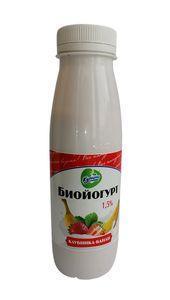 Йогурт биойгурт клубника-банан 1,5 % Купино, 290 мл.