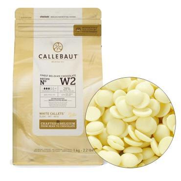 Шоколад белый Callebaut, 2,5 кг., металлизированный пакет