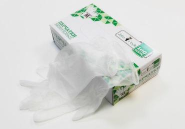 Перчатки винил/неопудр/нестерил., размер S 100 шт., JohnPack, 150 гр., картонная коробка