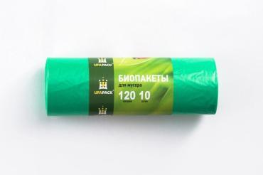 Пакеты для мусора 120 л., 10 штук Ufapack, 230 гр., бумажная упаковка