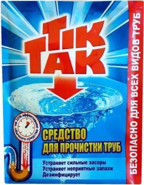 Средство для прочистки труб, Chirton Тик-Так 90 гр., пластиковый пакет