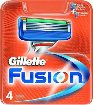 Кассеты Gillette Fusion для бритвенного станка, 4шт