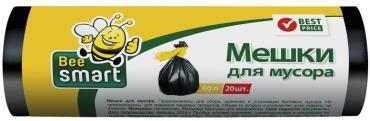 Мешки для мусора 60 л., 20 шт., НД, BeeSmart, 84 гр.