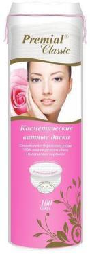 Ватные диски косметические, Premial Classic, 150 гр., пластиковая упаковка
