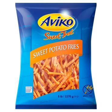 Картофель фри Aviko сладкий обжаренный, 2.27 кг., флоу-пак