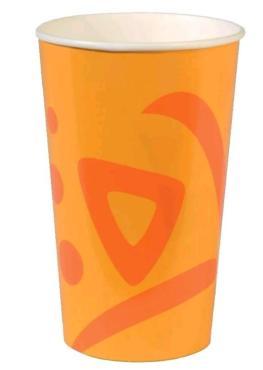 Стакан бумажный для холодных напитков 400 мл., d=90 мм., в упаковке 1000 штук, Huhtamaki Whizz
