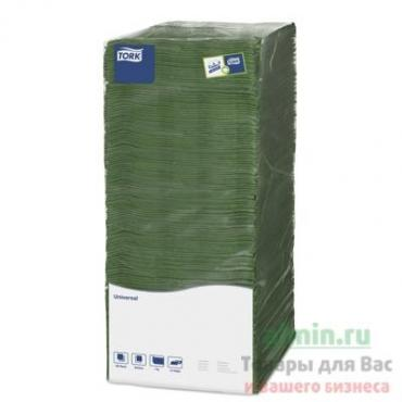 Салфетка бумажная 1-слойная 25х25 см. Зеленая 500 шт., Tork SCA, пластиковый пакет