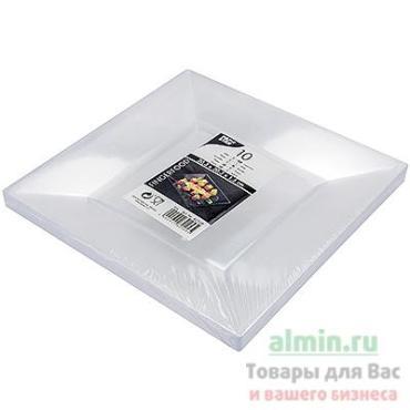 Поднос сервировочный 203х203 мм., квадратный пластик прозрачный Papstar