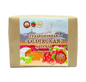 Пастила брусника Белёвский продукт, 250 гр., пергамент