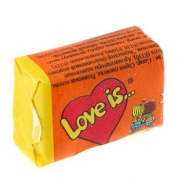 Жевательная резинка со вкусом апельсина и ананаса, Love Is, 4.2 гр., обертка фольга/бумага