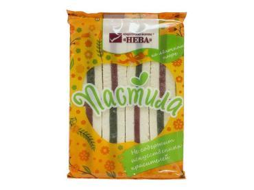 Пастила ванильная с ароматом ванили и двухслойным мармеладом, Нева, 240 гр., флоу-пак