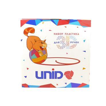 Набор пластика 3 цвета по 10 м., светящихся в темноте, UNID для 3D ручки Unid, PRO-F, 500 гр., картонная коробка