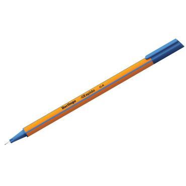 Ручка капиллярная Berlingo Rapido синяя, 0,4мм, трехгранная