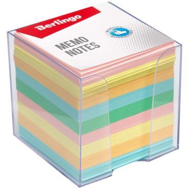 Блок для записи Berlingo Standard, 9*9*9см, в пластиковом боксе, цветной