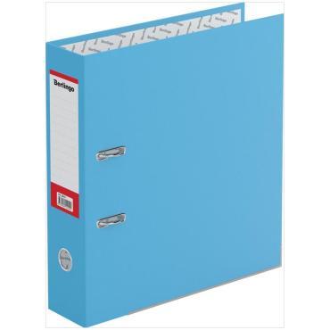 Папка-регистратор Berlingo Hyper, 80мм, нижний метал. кант, крафт-бумага голубая