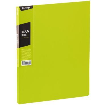 Папка с 40 вкладышами Berlingo Color Zone, 21мм, 600мкм, салатовая