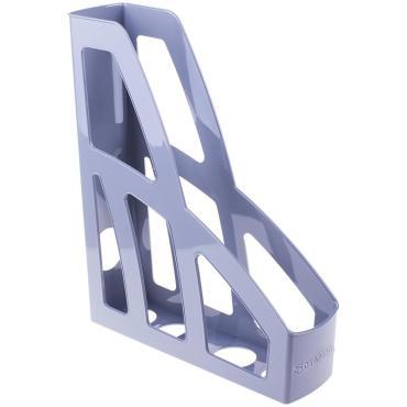 Лоток для бумаг вертикальный Стамм Лидер, серый