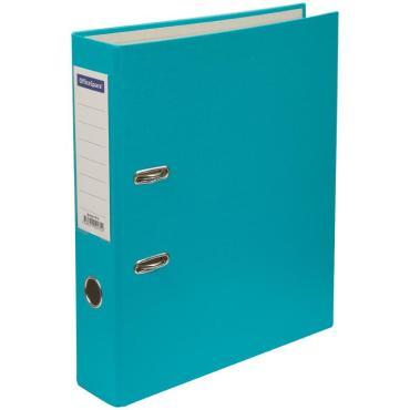 Папка-регистратор OfficeSpace, 70мм, бумвинил, с карманом на корешке, бирюзовая