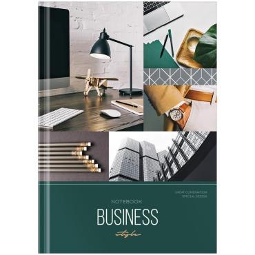 Бизнес-блокнот А5 120л., OfficeSpace Stylish workplace, глянцевая ламинация