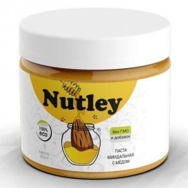 Паста миндальная с медом Nutley, 300 гр., пластиковая банка