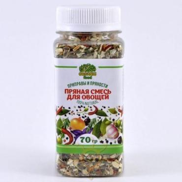 Смесь пряная для овощей Organic food, 70 гр., пластиковая банка